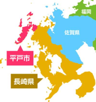 平戸市の地図