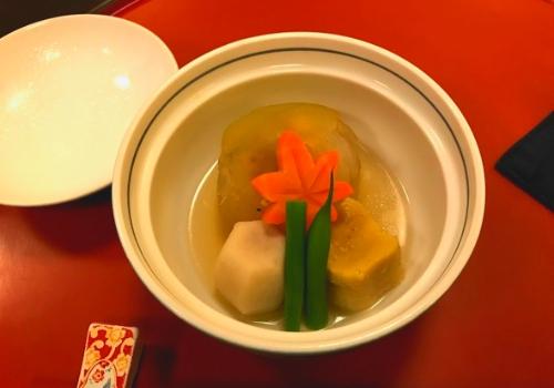 冬瓜饅頭鰻鋳込み、里芋含め煮