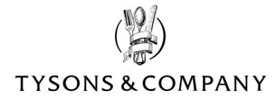 「TYSONS&COMPANY」公式ロゴ