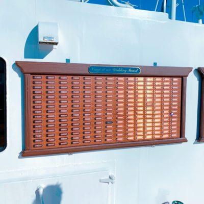 甲板のウェディングボード