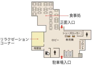 湘南台温泉「らく」1F