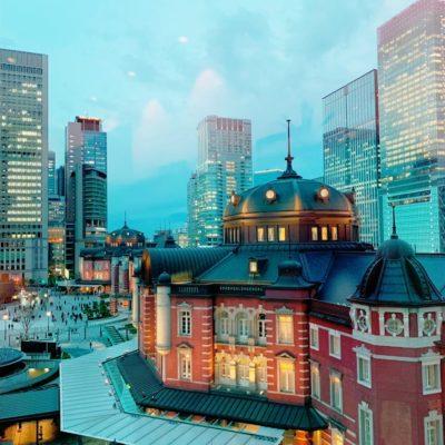 東京駅を見下ろせるロケーション