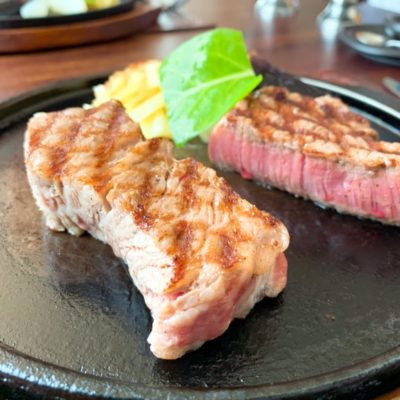 特上石垣牛のサーロインステーキとテンダーロインステーキ(ハーフ&ハーフ)