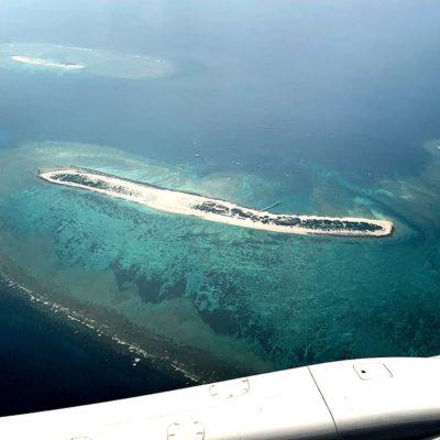 上空から見た離島