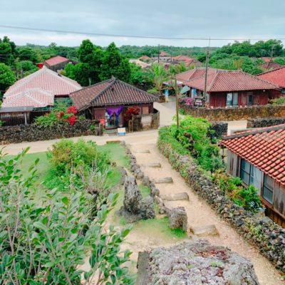 展望台から見た竹富島の街並み