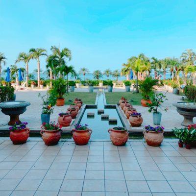 グランヴィリオリゾートの中庭