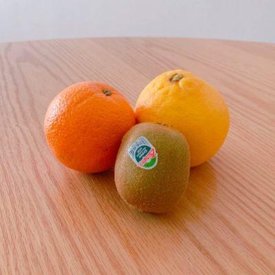 グリーンキウイ・ネーブルオレンジ・ピンクグレープフルーツ