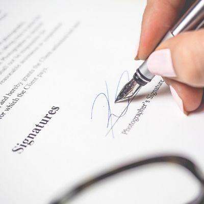 人工授精同意書の署名