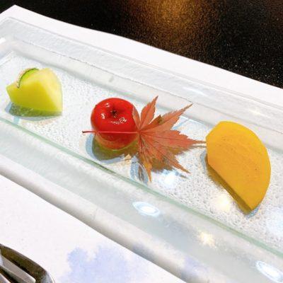 水菓子「林檎饅頭 メロン 柿」