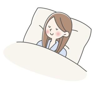 眠る女性のイメージ