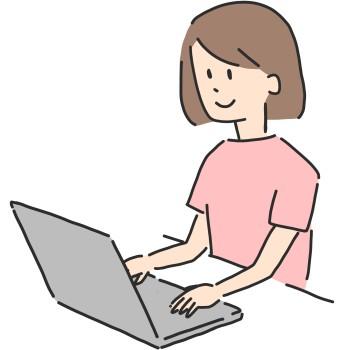 会計ソフトを操作する女性