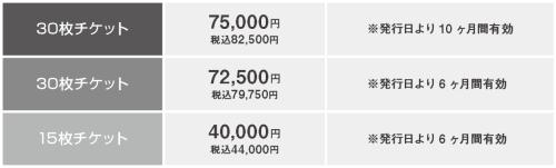 zen placeチケット料金表