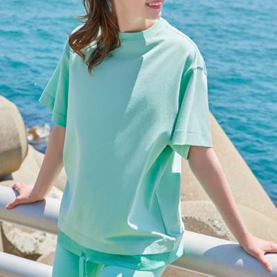 冷感レイヤー風半袖Tシャツ