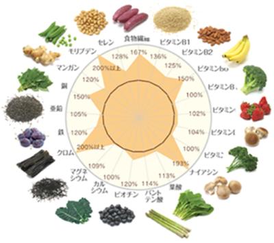 ザ・ヨギーニフード100、1食あたりの栄養素