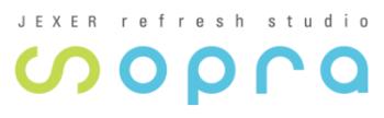 リフレッシュスタジオ「sopra」公式ロゴ